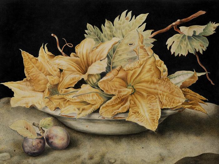 Темный фон типичен для живописи барокко.