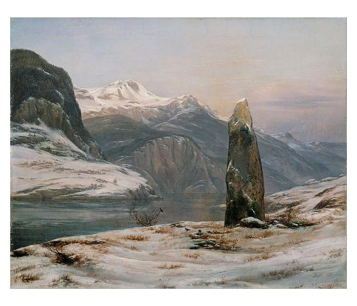 Зима в Согне-фьорде.
