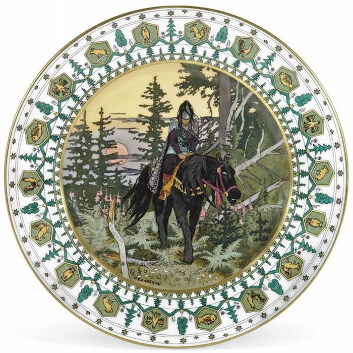 Тарелка с рисунком Билибина.