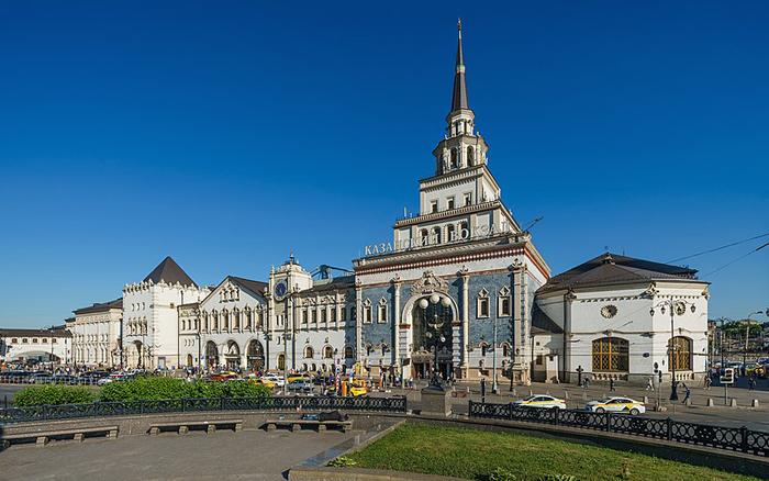 Здание Казанского вокзала.