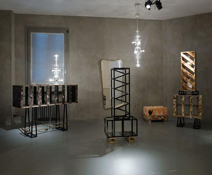 Коллекция мебели и светильников.