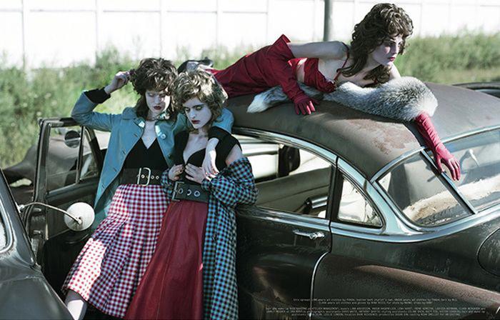 Рекламная съемка Prada.