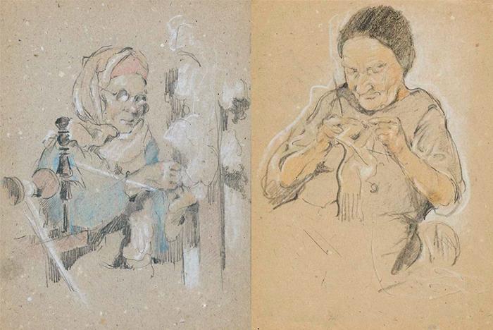 Портреты женщин из Карлага.