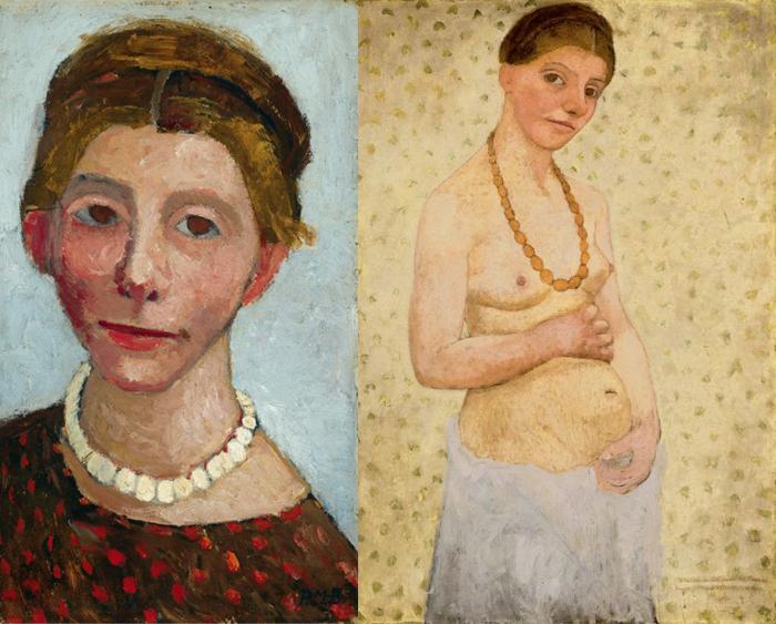 Автопортреты художницы.