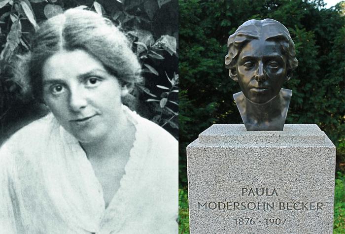 Пауле Модерзон-Беккер в Германии установлен памятник.