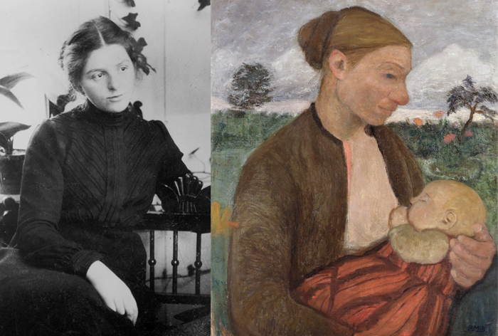 Паула Модерзон-Беккер - звезда немецкой живописи.