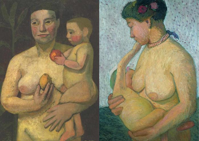 Живопись Паулы Модерзон-Беккер - женский мир без приукрашивания.