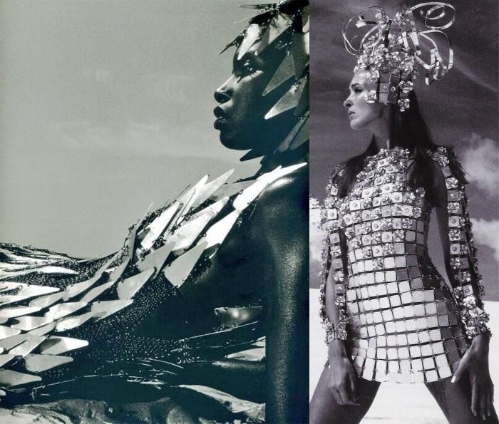 Модели в платьях от Пако Рабанна.