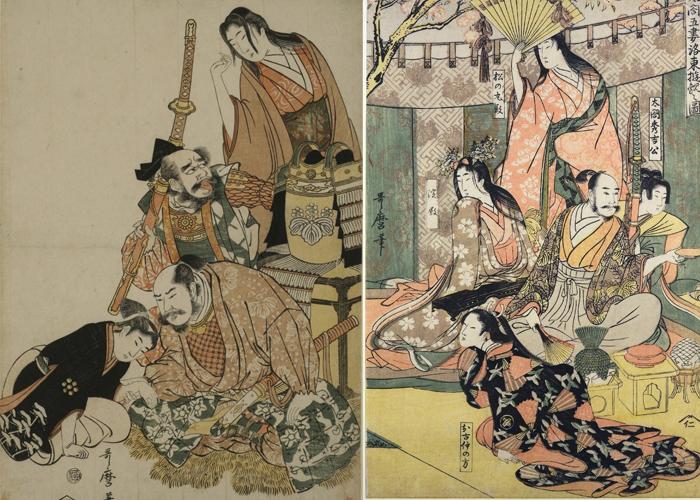 Гравюры Утамаро, оскорбившие сёгунат.