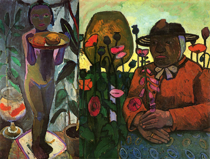 Справа - одна из последних работ Паулы Модерзон-Беккер.