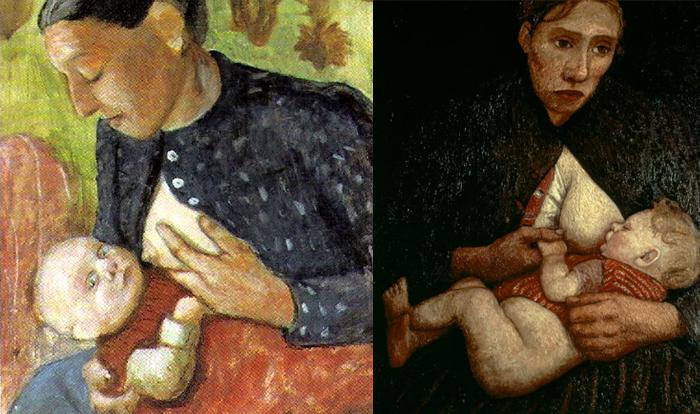 Матери и дети в живописи Паулы.
