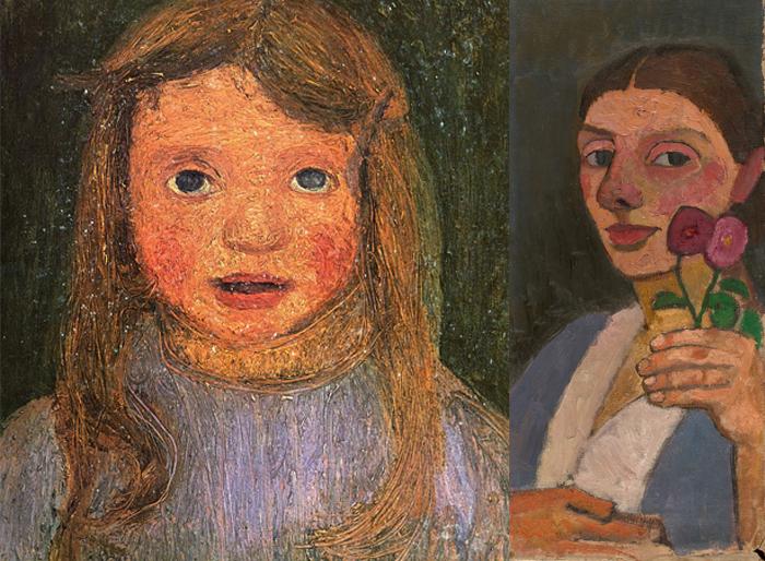 Портрет Эльсбет, автопортрет Паулы.