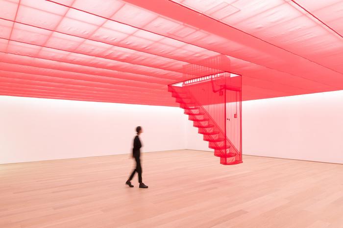 Инсталляция До Хо Су из нейлоновых нитей.