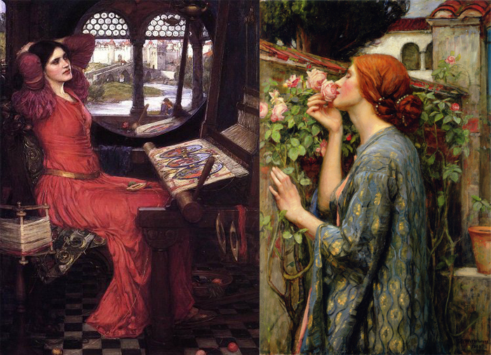 """""""Леди Шалот""""(слева), """"Моя сладкая роза"""