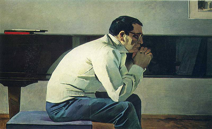 Портрет композитора Кара-Караева.