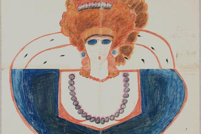 Художественный талант Алоизы раскрылся в психиатрической клинике.