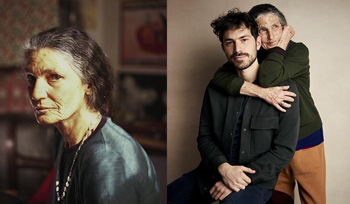 Кадр из фильма и Бенедетта с сыном.