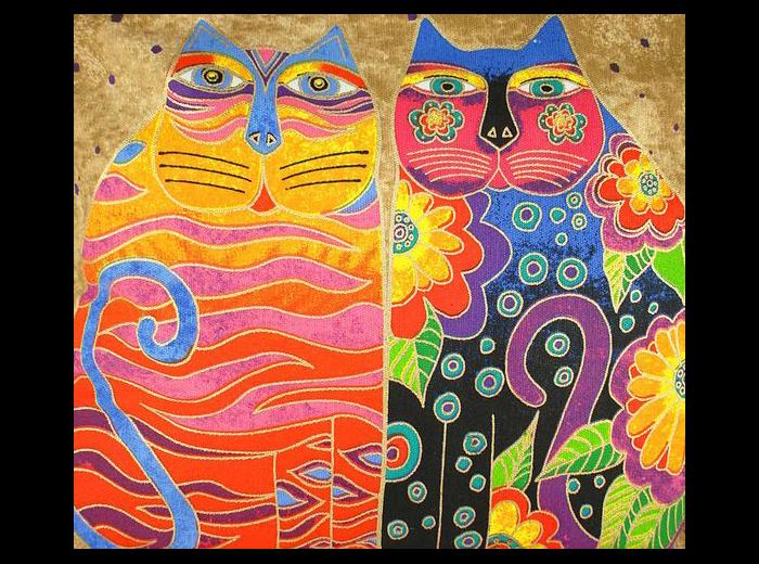 Лорел мечтала нарисовать как можно больше разноцветных кошек.