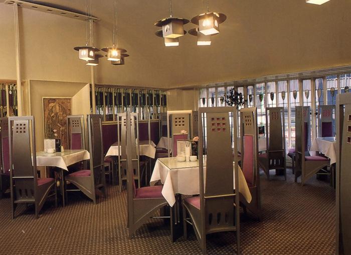 Ивовые чайные комнаты, Чарльз Макинтош и Маргарет Макдональд.