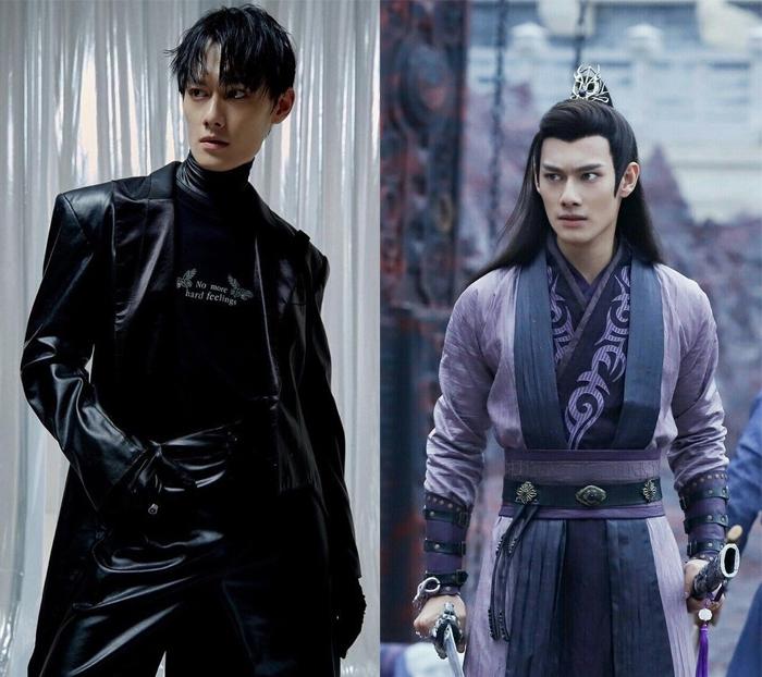 Ван Чжочэн в съемке для глянца и в роли главы ордена Цзян.