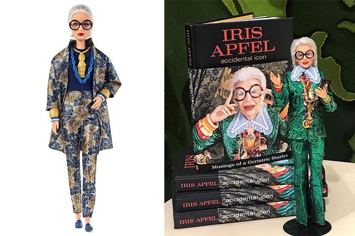 Барби в облике Айрис Апфель и автобиография дизайнера.