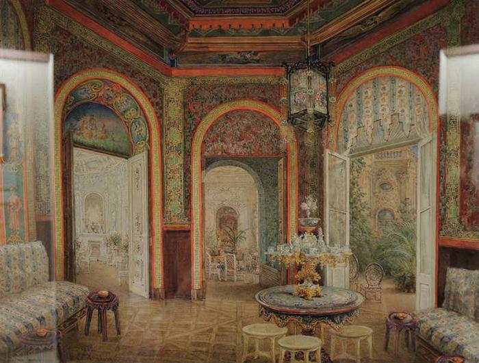 Гостиная в китайском стиле. Вилла (дача) княгини З.И. Юсуповой в Царском Селе.