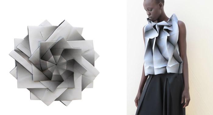 Мияке часто использует принципы оригами.