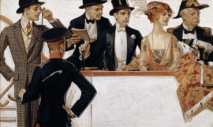 Для рекламы Лейендекер рисовал богатых и красивых людей.