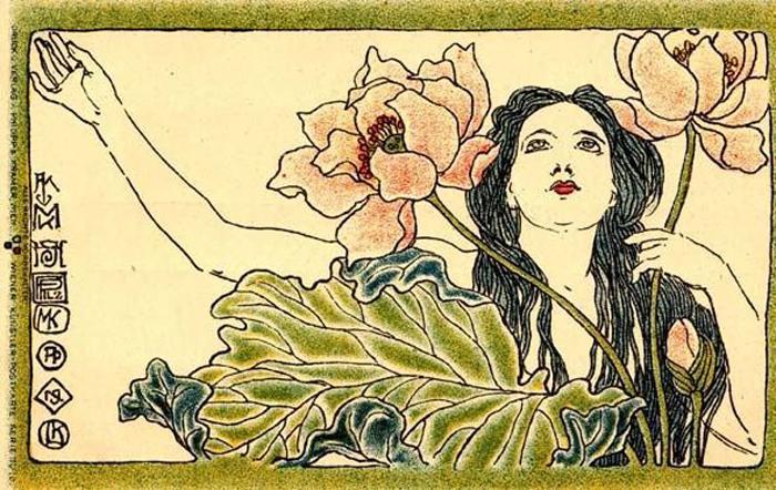 Иллюстрации Коломана Мозера.