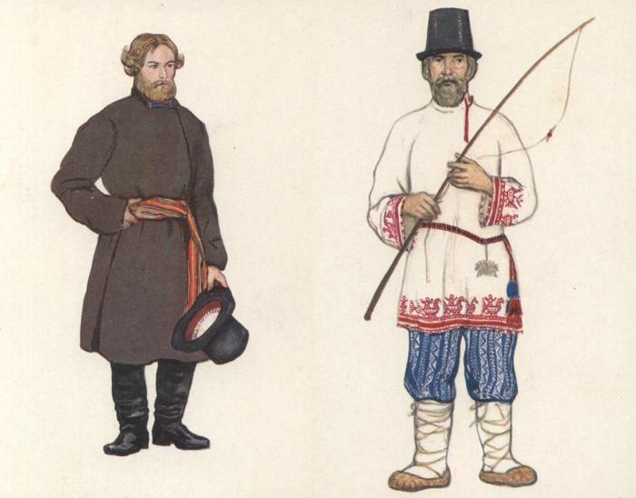 Одежда русских крестьян.