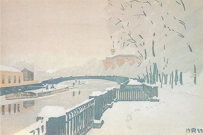 Ленинград. Летний сад зимой.