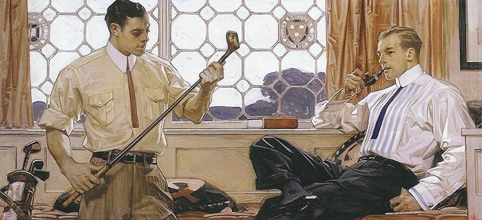 Лейендекер любил рисовать красивых и ухоженных мужчин.