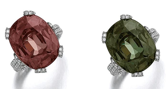 Перстни с бриллиантами, ограненными Позье.