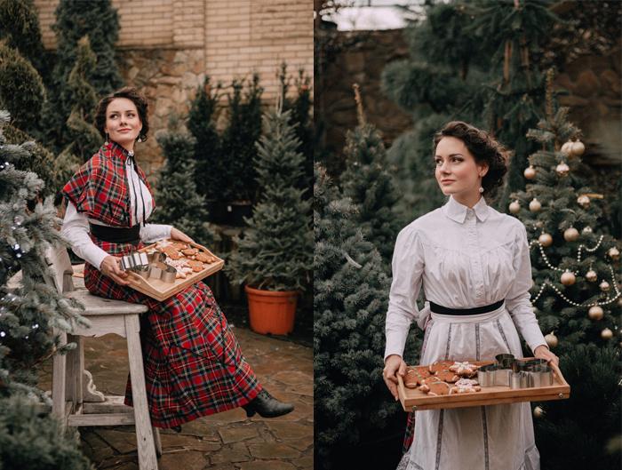 Мила Поворознюк в исторической фотосессии.