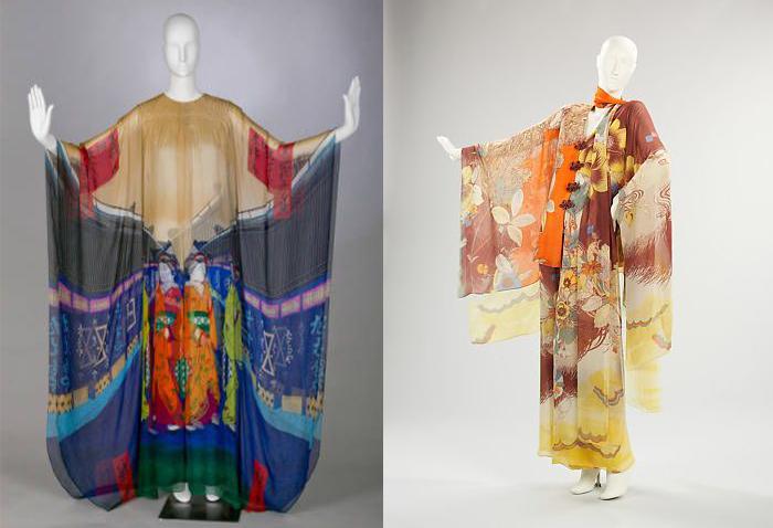 Шелковые платья-кимоно Ханае Мори.