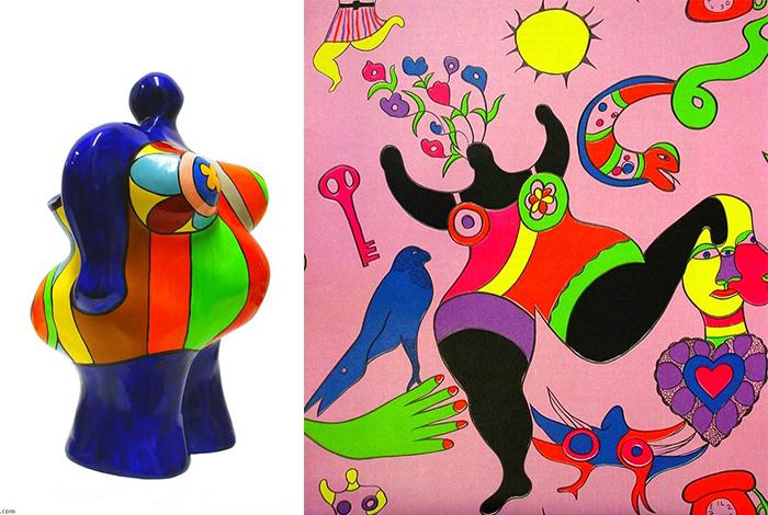 Скульптура и живопись Ники.