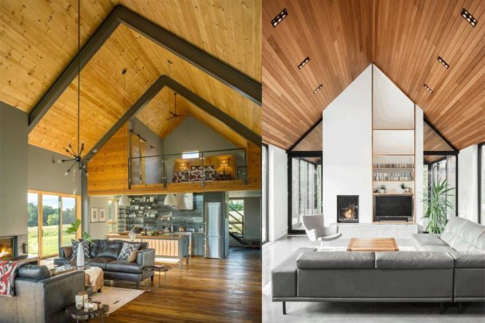 Форма здания задает стиль всему интерьеру.