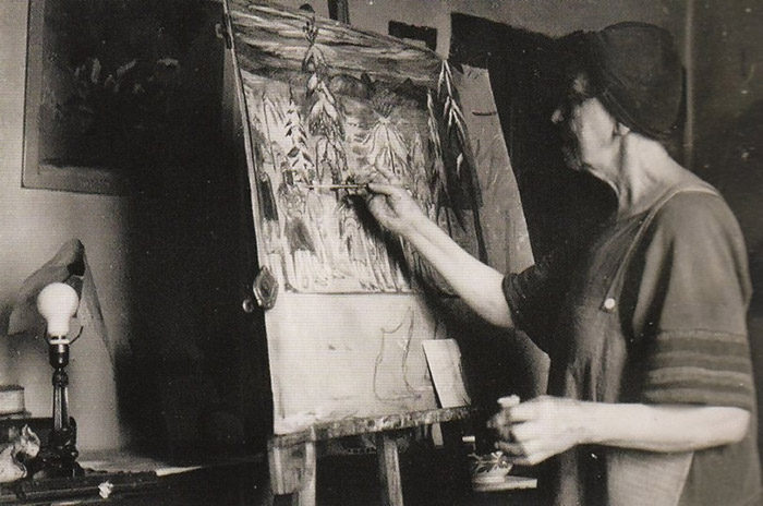 Марианна Веревкина в своей мастерской.