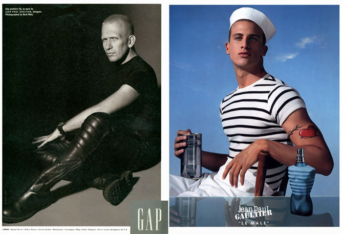 Справа - рекламный образ моряка.