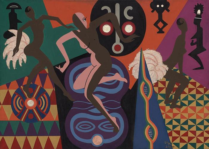 Живопись с африканскими мотивами.