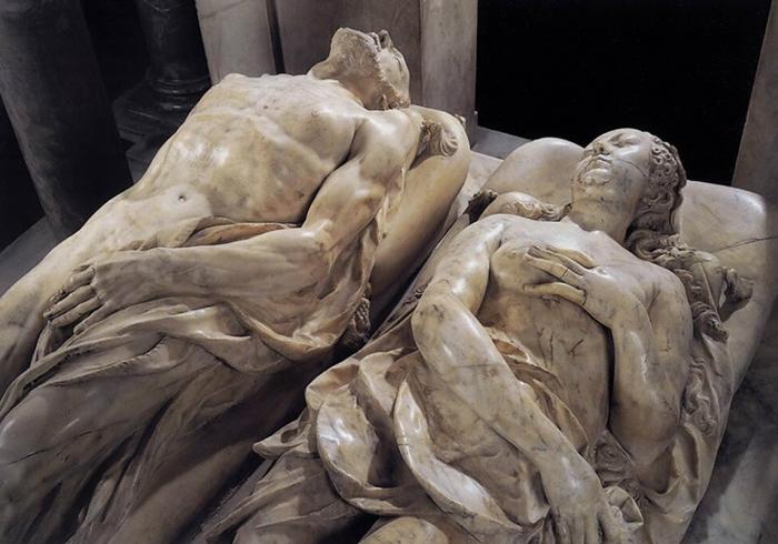 Жермен Пилон, надгробия Генриха II и Екатерины Медичи.