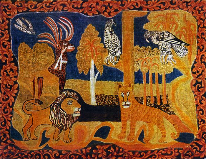 Райский сад. Такие ковры в деревнях вешали над кроватью.