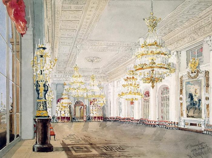 Николаевский зал Зимнего дворца.