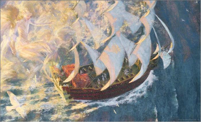 Русалочка. Иллюстрация Кристиана Бирмингема.