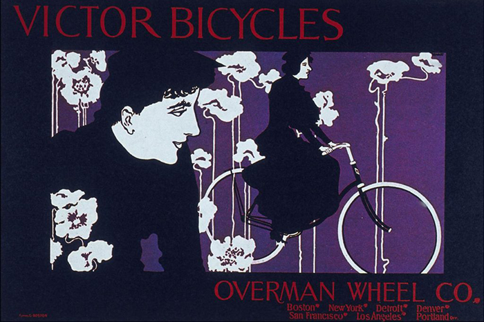 Смелая и независимая велосипедистка - образ, восхищавший Брэдли.