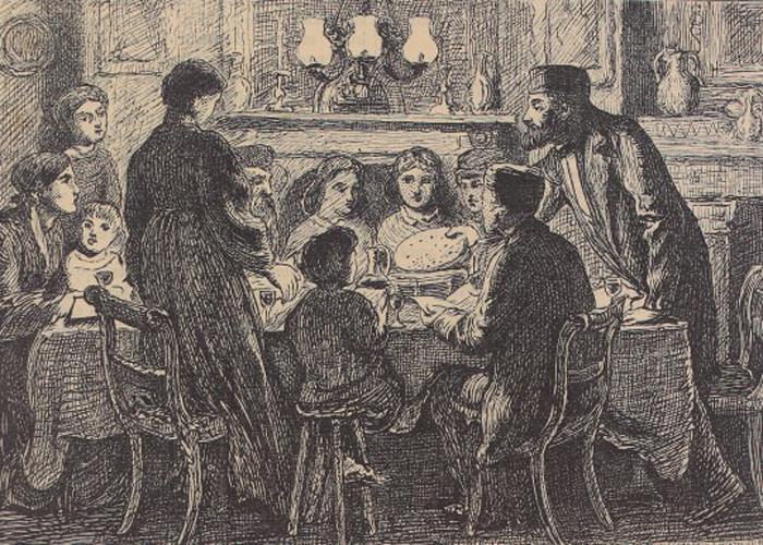 Соломон начинал с рисунков, посвященных еврейской традиции.