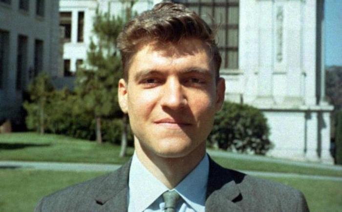 Теодор Качинский — профессор Беркли. /Фото: mentalfloss.com