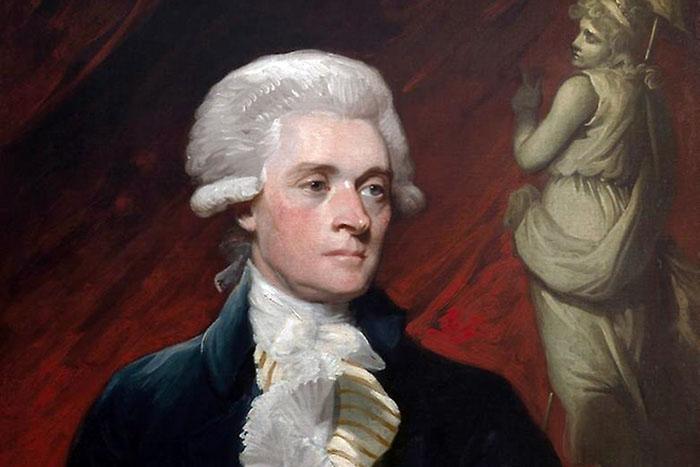 Президент Джефферсон в молодости (1786). Худ. Мазер Браун.