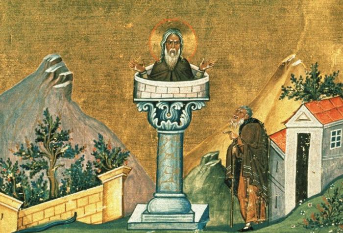 Святого Симеона считают родоначальником христианского столпничества.