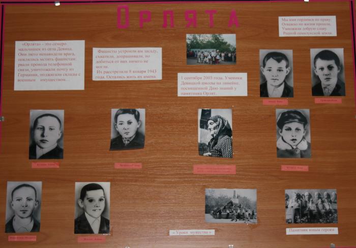 Жители деревни бережно хранят память о мальчиках-героях. /Фото:архив девицкого краеведческого музея
